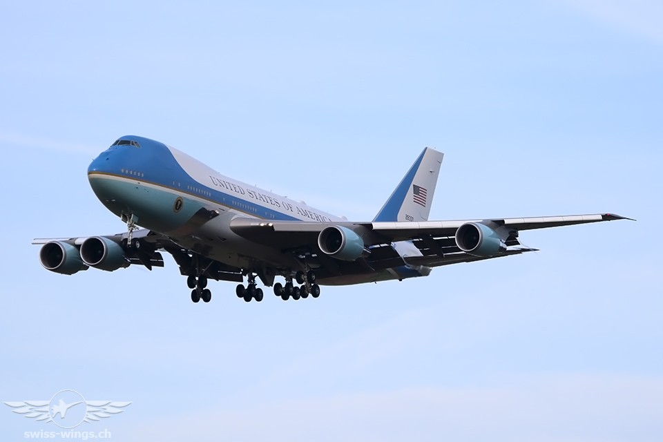Air Force One in Zürich-Kloten 2018